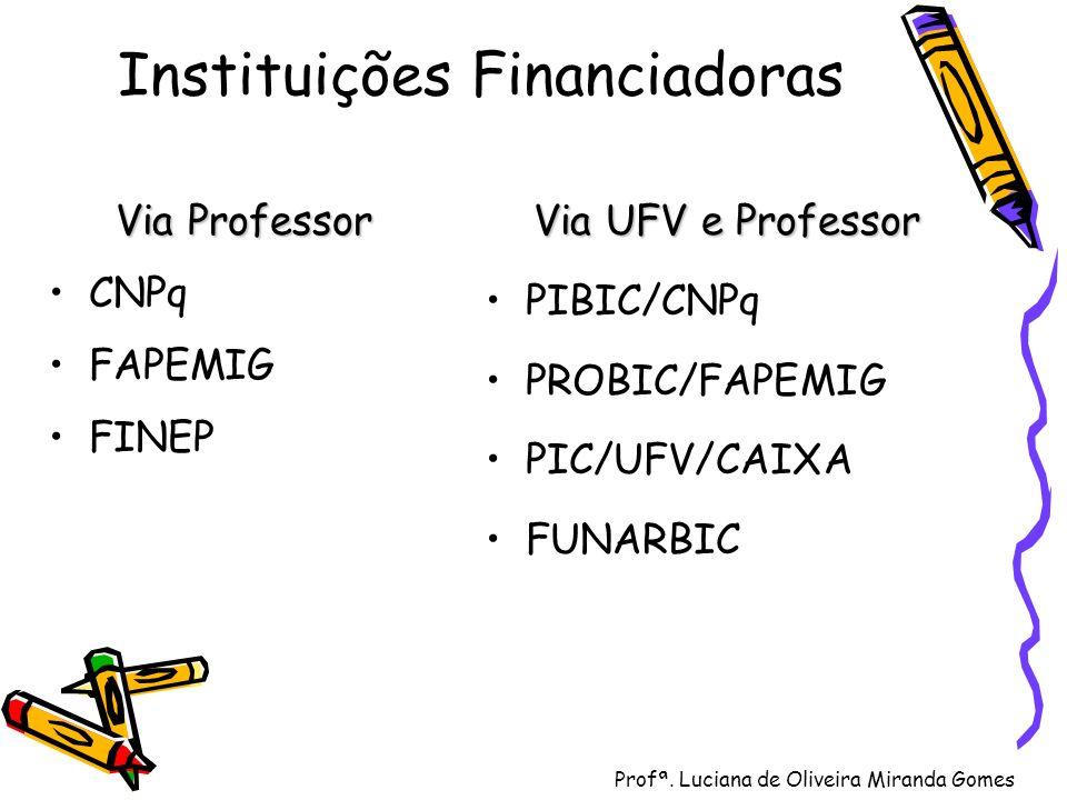 Instituições Financiadoras
