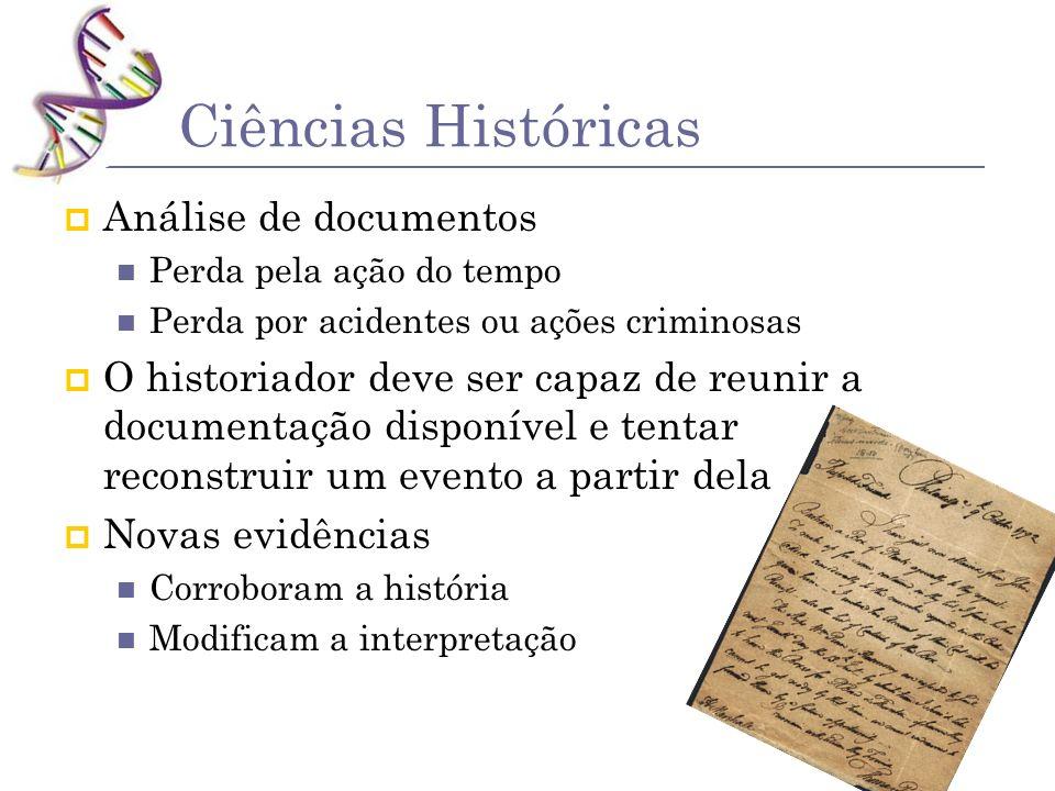 Ciências Históricas Análise de documentos