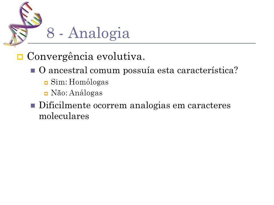 8 - Analogia Convergência evolutiva.