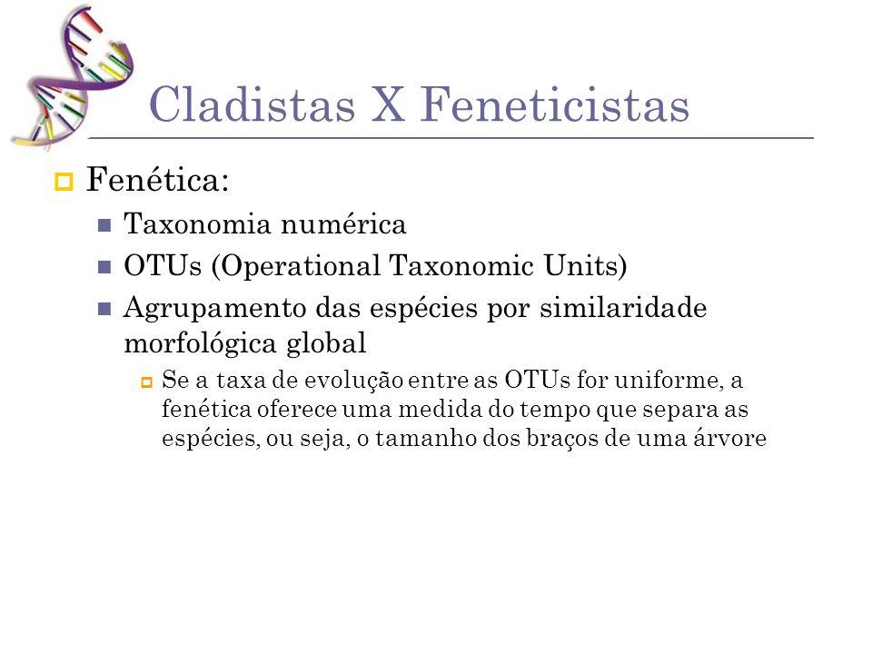 Cladistas X Feneticistas