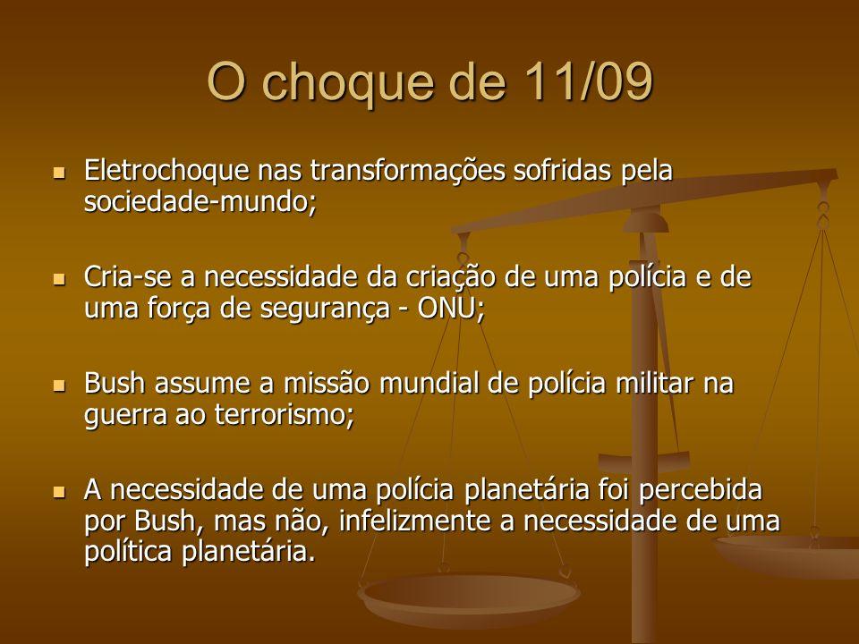 O choque de 11/09 Eletrochoque nas transformações sofridas pela sociedade-mundo;