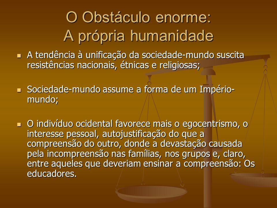 O Obstáculo enorme: A própria humanidade