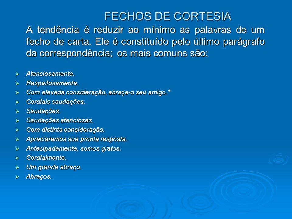 FECHOS DE CORTESIA