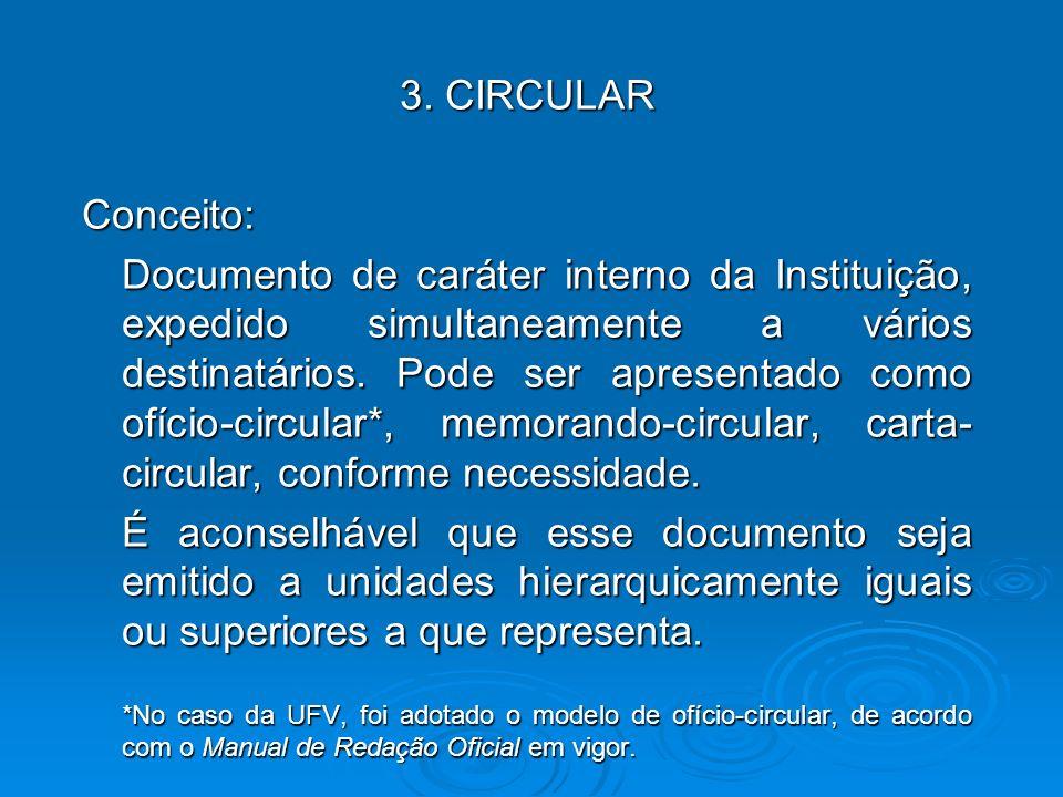 3. CIRCULAR Conceito: