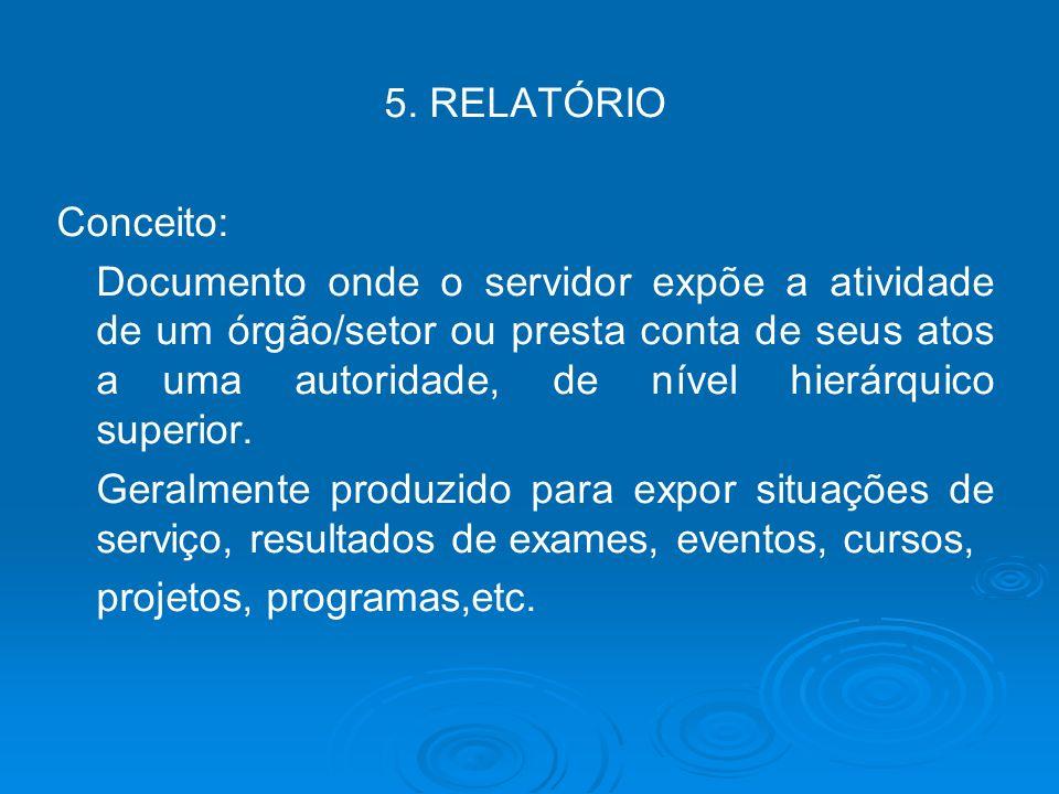 5. RELATÓRIO Conceito:
