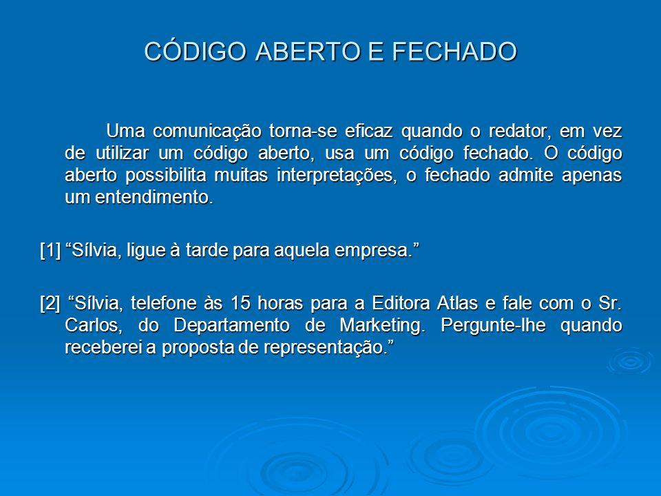 CÓDIGO ABERTO E FECHADO