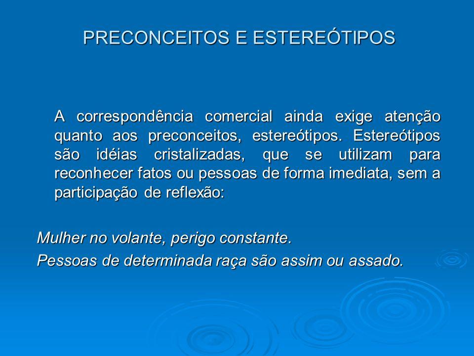 PRECONCEITOS E ESTEREÓTIPOS