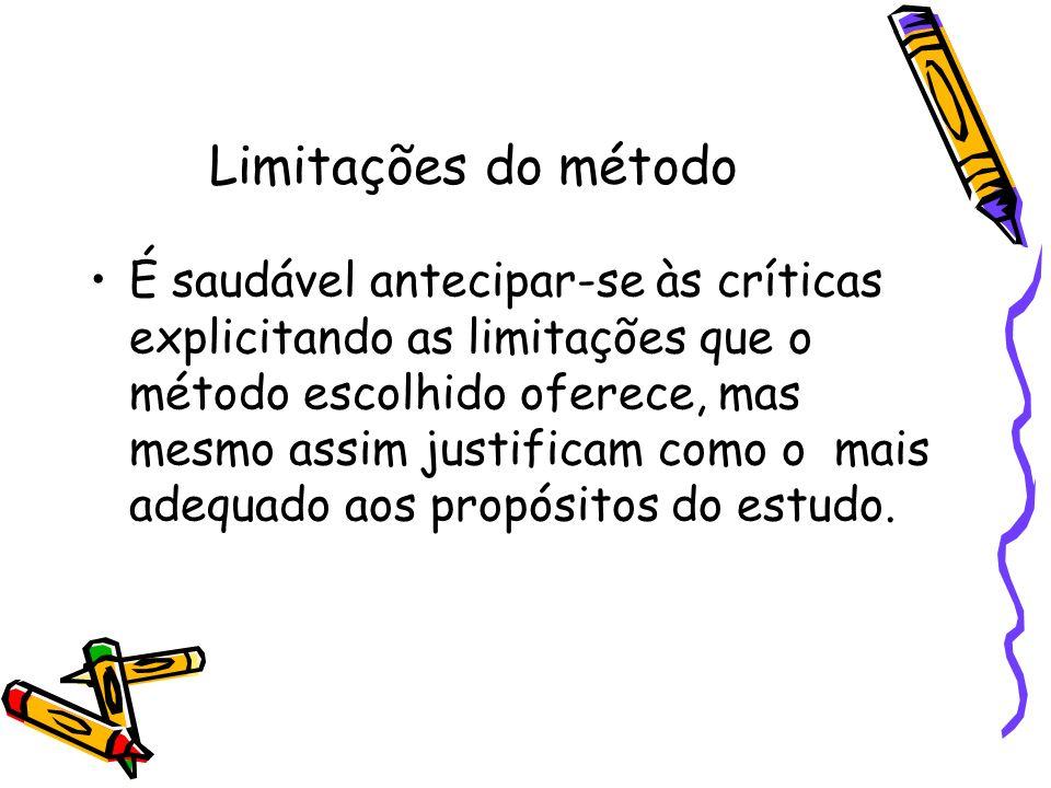 Limitações do método