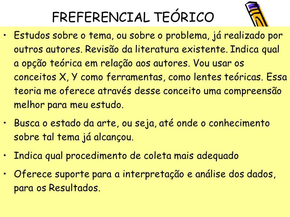 FREFERENCIAL TEÓRICO
