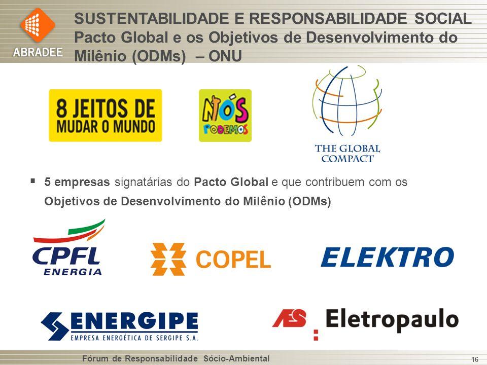 SUSTENTABILIDADE E RESPONSABILIDADE SOCIAL Pacto Global e os Objetivos de Desenvolvimento do Milênio (ODMs) – ONU