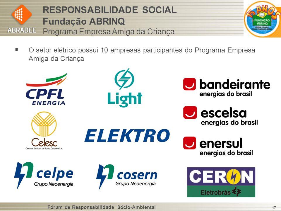 RESPONSABILIDADE SOCIAL Fundação ABRINQ Programa Empresa Amiga da Criança