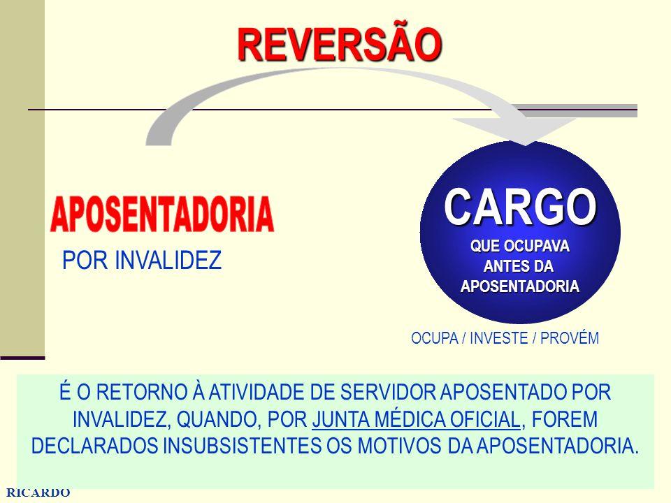 CARGO REVERSÃO APOSENTADORIA POR INVALIDEZ