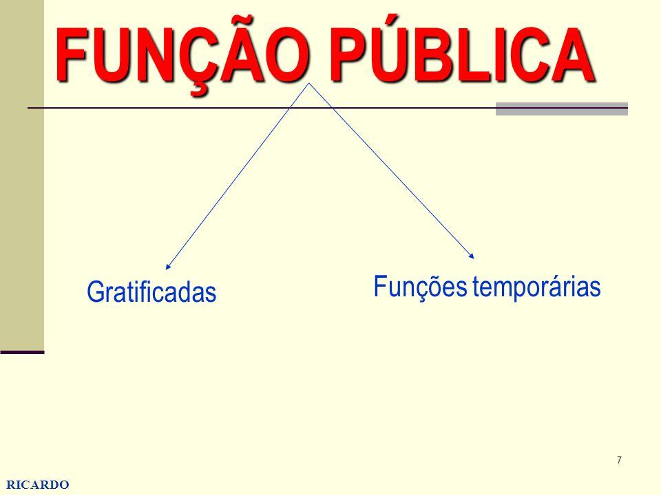 FUNÇÃO PÚBLICA Funções temporárias Gratificadas RICARDO CONZATTI 7