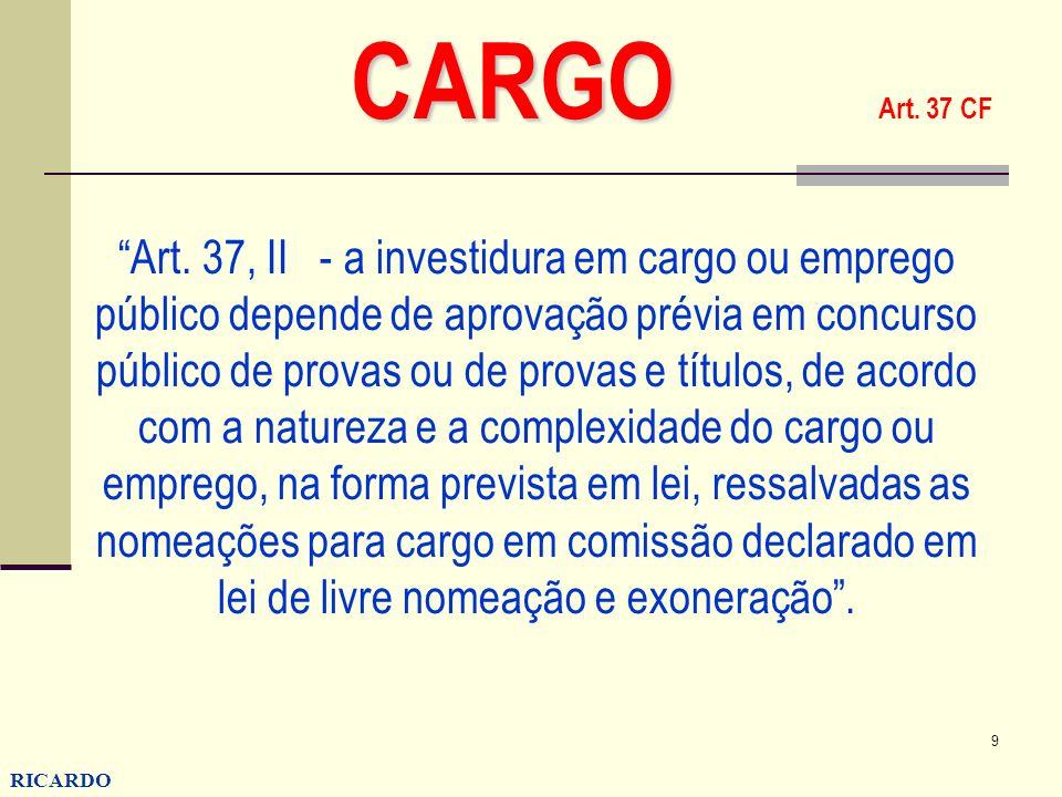 CARGO Art. 37 CF