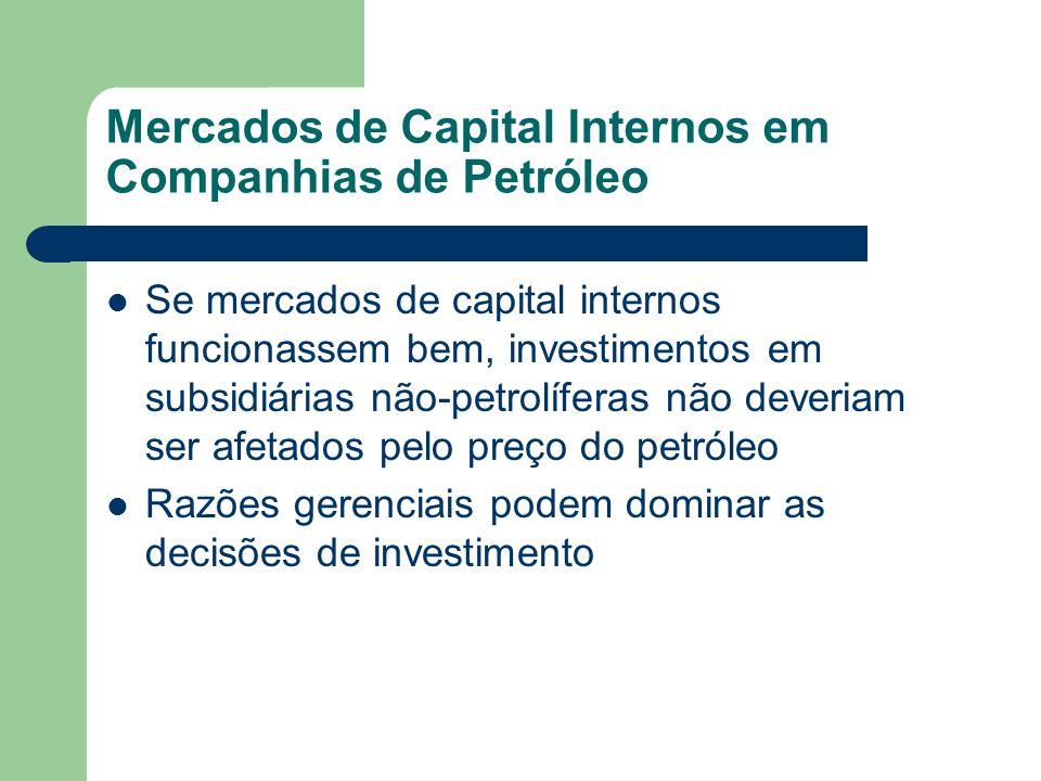 Mercados de Capital Internos em Companhias de Petróleo