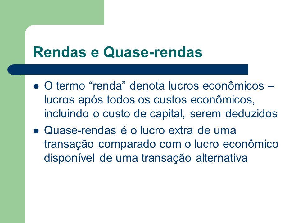 Rendas e Quase-rendas
