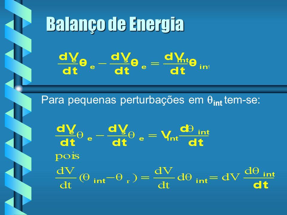 Balanço de Energia Para pequenas perturbações em qint tem-se: