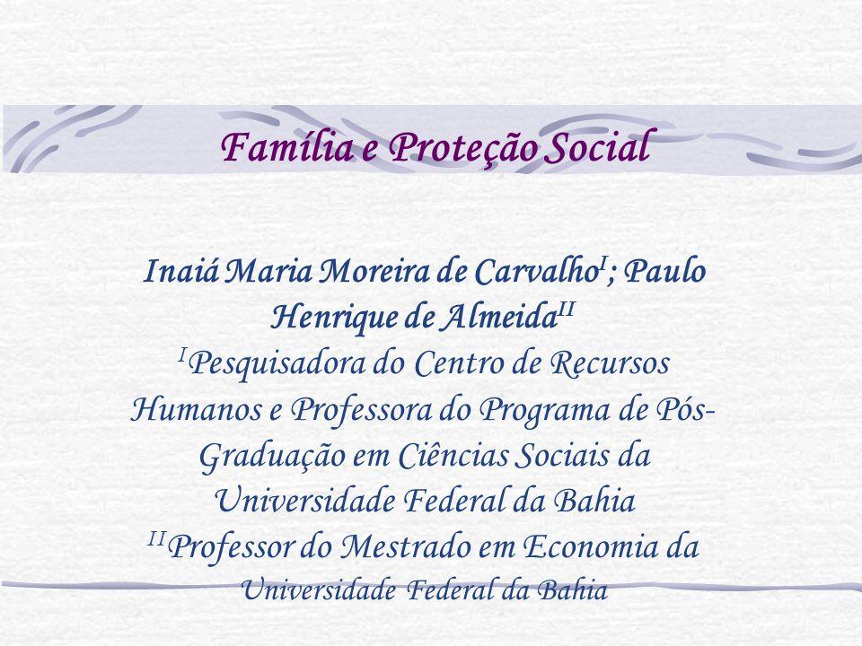 Família e Proteção Social