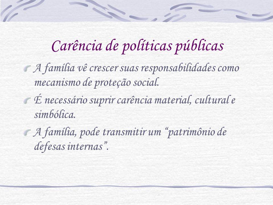 Carência de políticas públicas