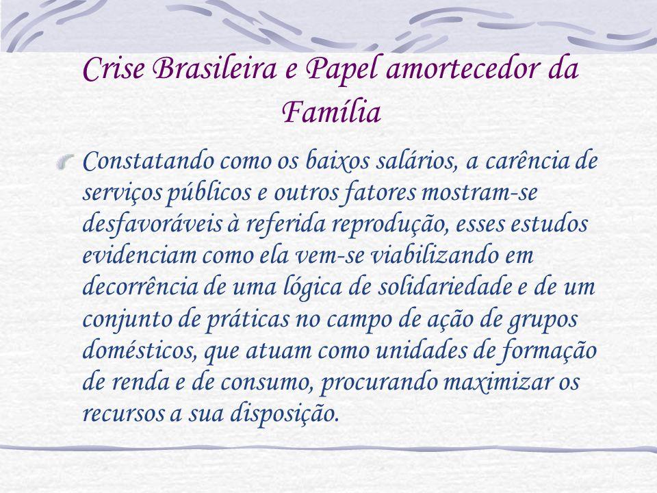Crise Brasileira e Papel amortecedor da Família