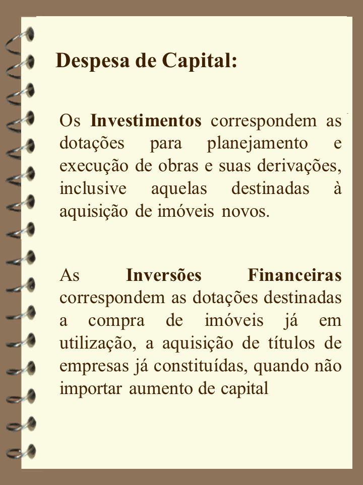 Despesa de Capital: