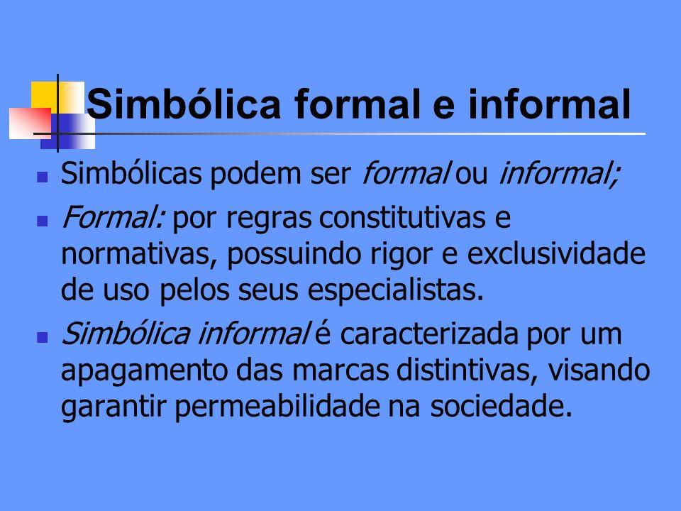 Simbólica formal e informal