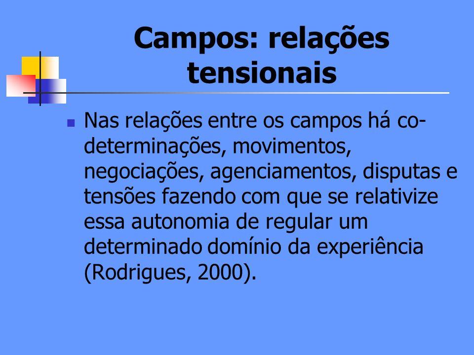 Campos: relações tensionais