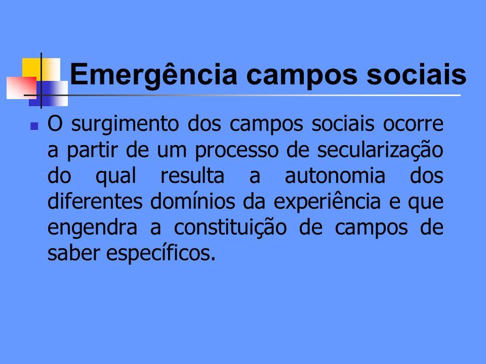 Emergência campos sociais