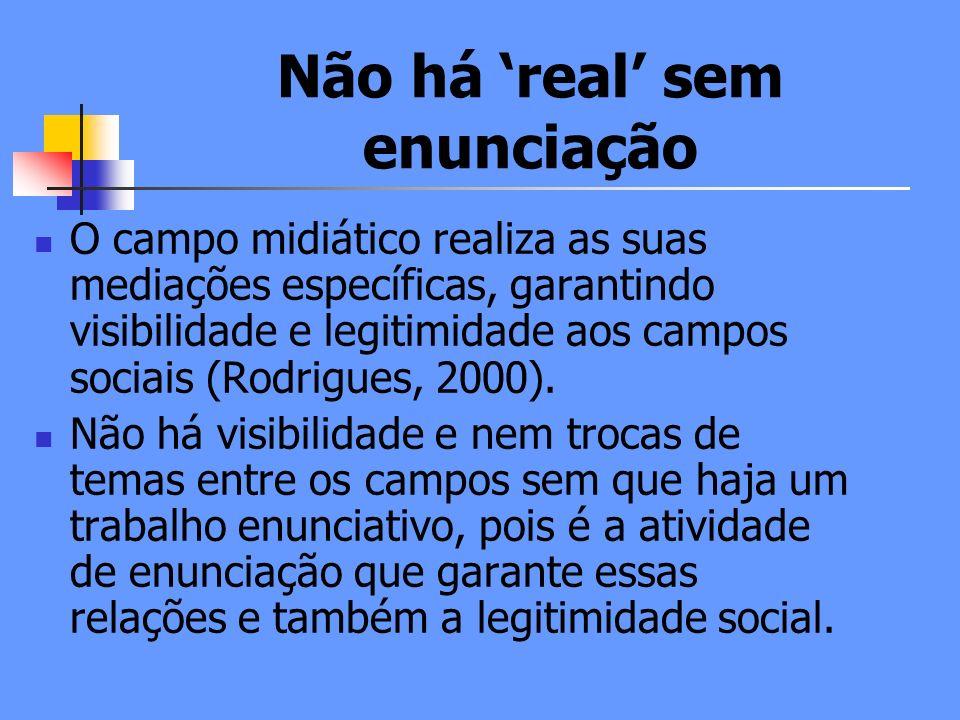 Não há 'real' sem enunciação