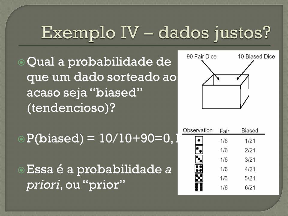 Exemplo IV – dados justos