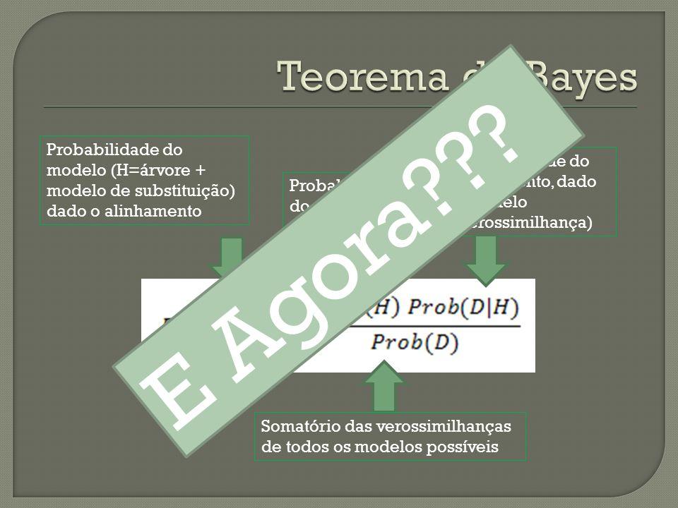 E Agora Teorema de Bayes