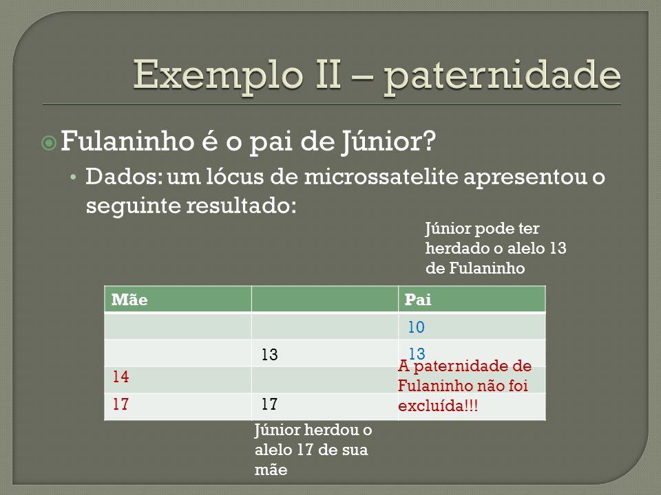 Exemplo II – paternidade