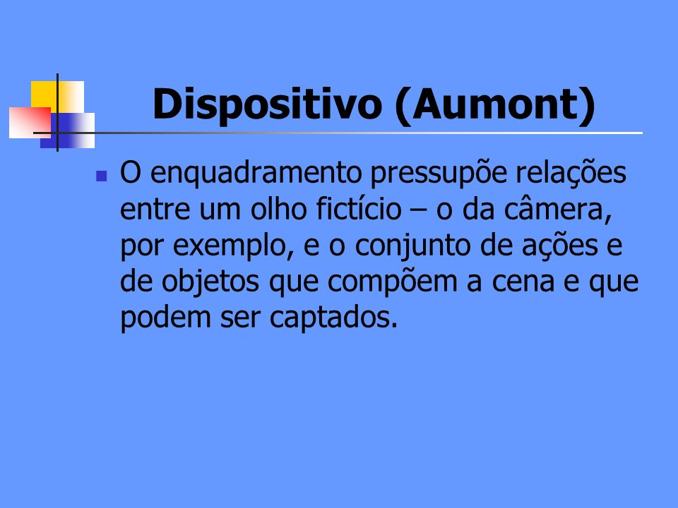 Dispositivo (Aumont)