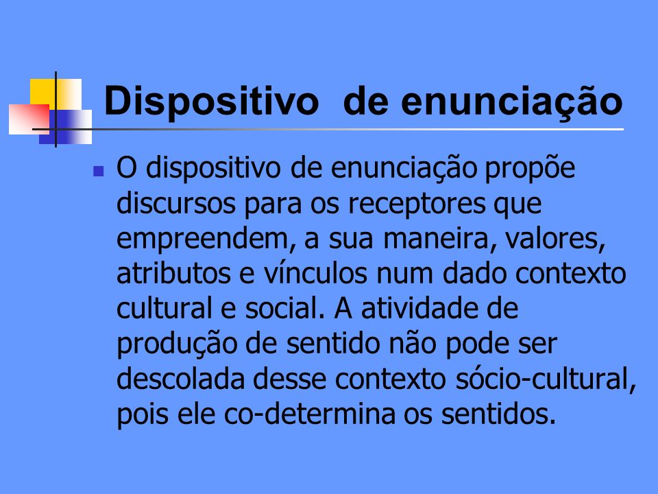 Dispositivo de enunciação