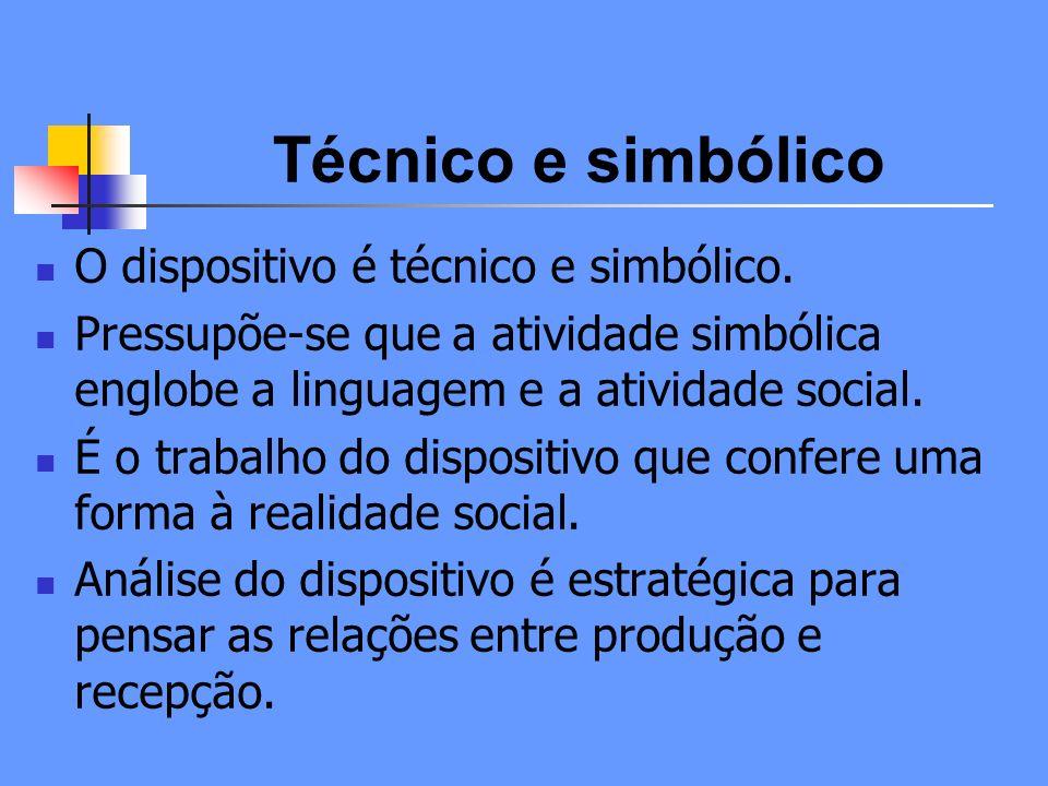 Técnico e simbólico O dispositivo é técnico e simbólico.