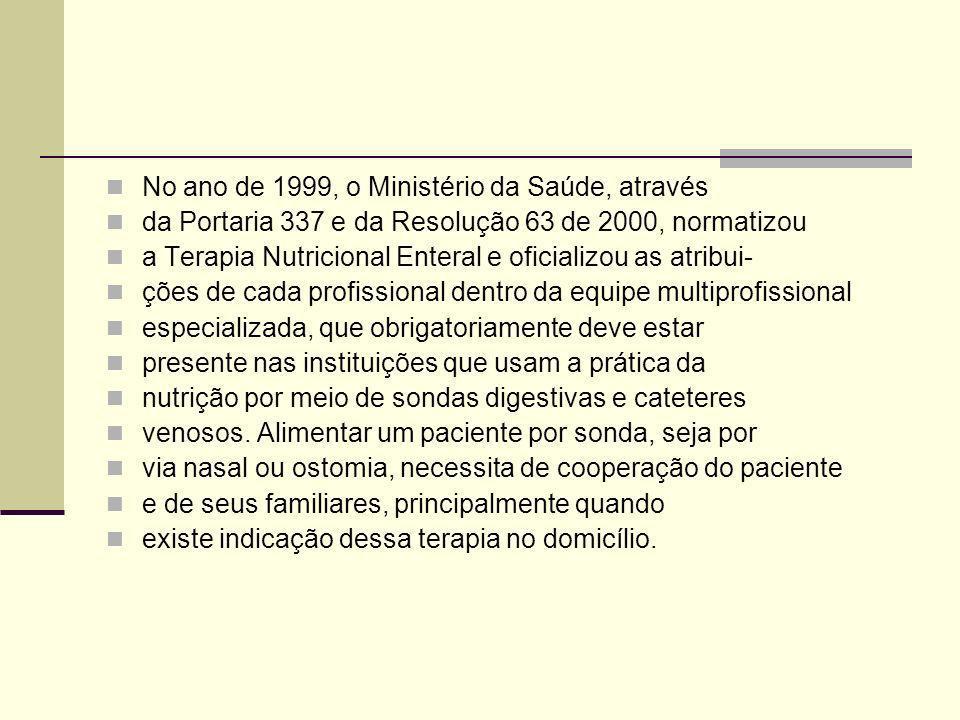 No ano de 1999, o Ministério da Saúde, através