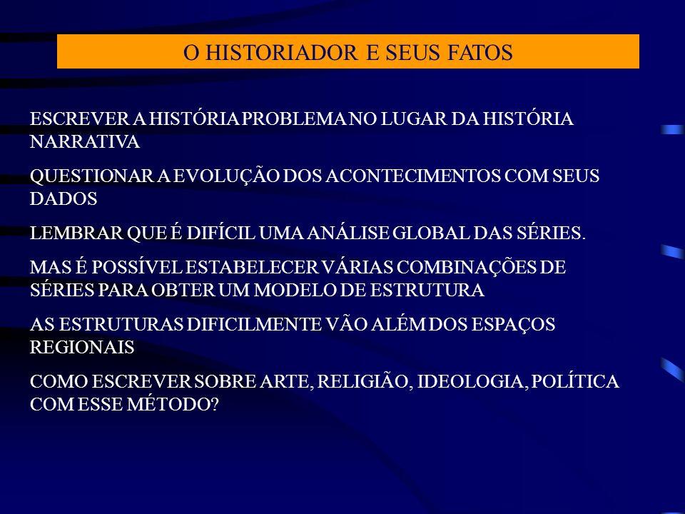 O HISTORIADOR E SEUS FATOS