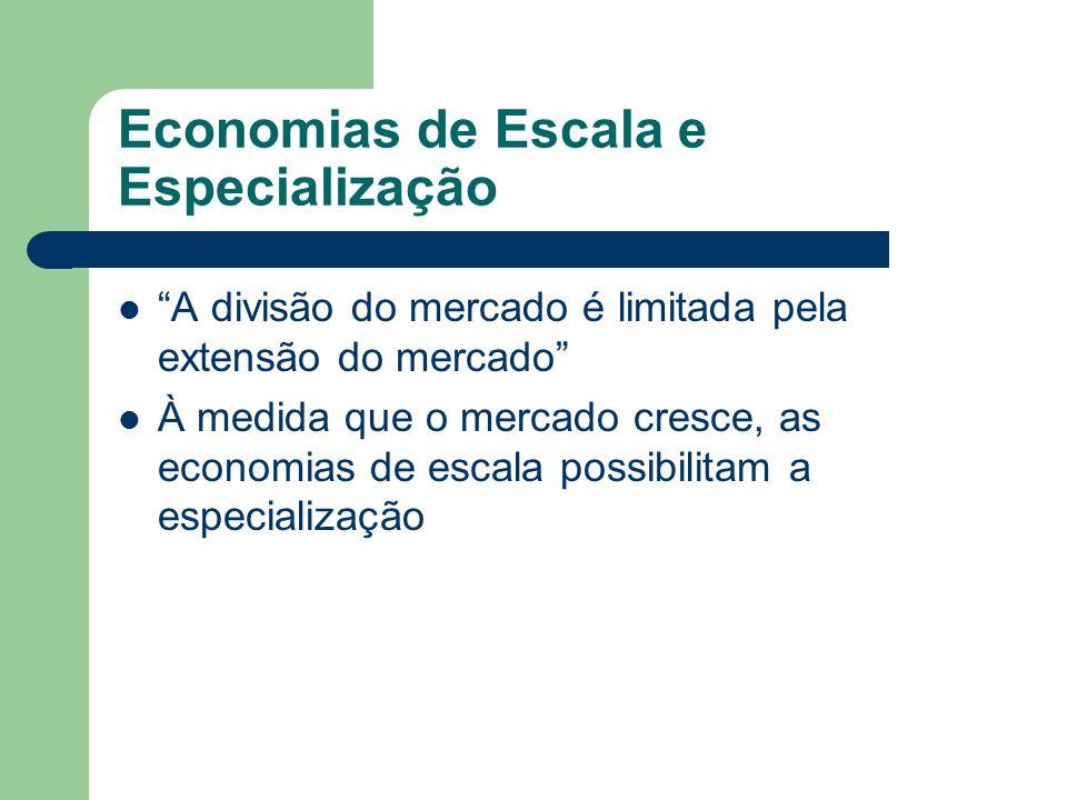 Economias de Escala e Especialização