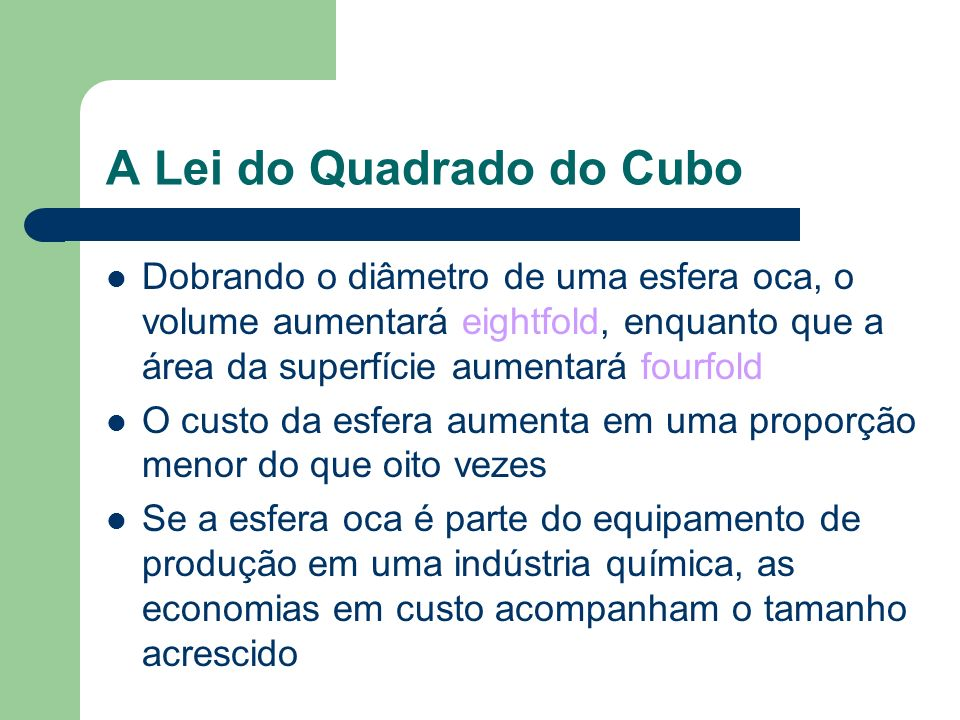 A Lei do Quadrado do Cubo