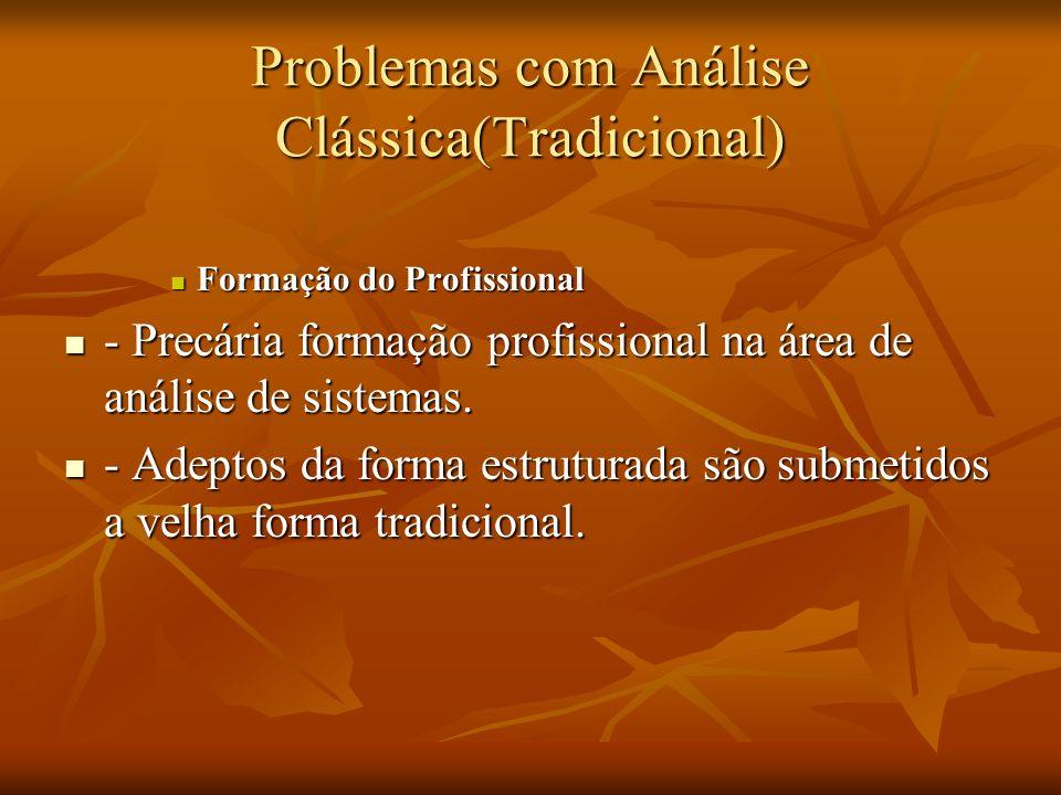 Problemas com Análise Clássica(Tradicional)