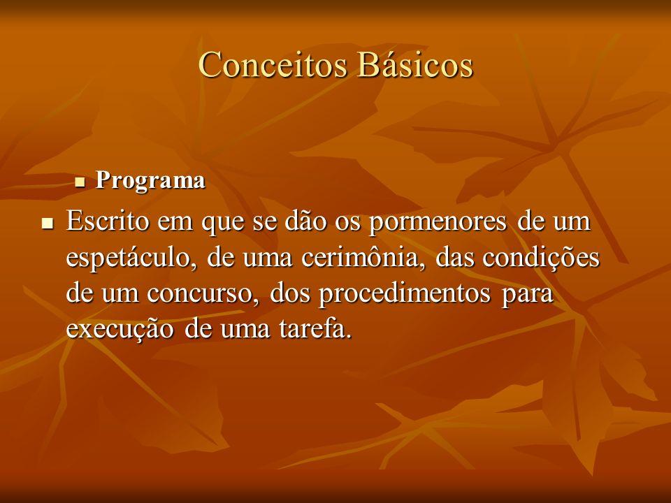 Conceitos BásicosPrograma.