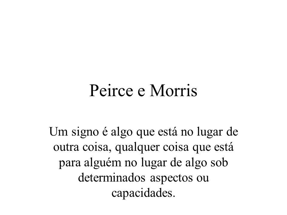 Peirce e Morris