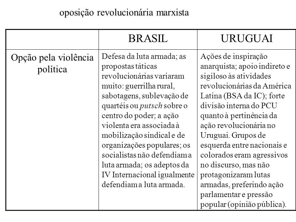 Opção pela violência política