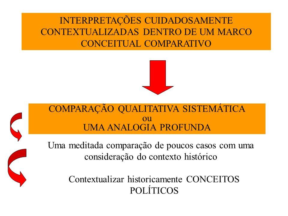COMPARAÇÃO QUALITATIVA SISTEMÁTICA ou UMA ANALOGIA PROFUNDA