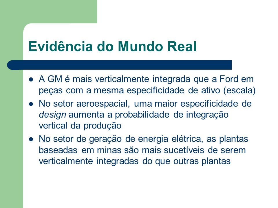 Evidência do Mundo Real