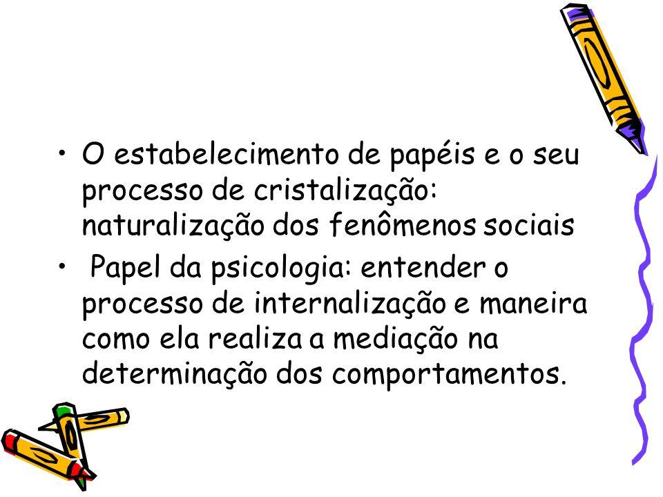 O estabelecimento de papéis e o seu processo de cristalização: naturalização dos fenômenos sociais