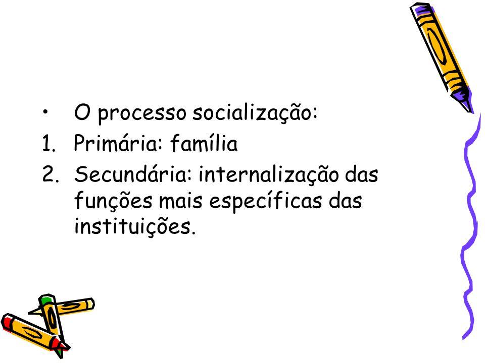 O processo socialização: