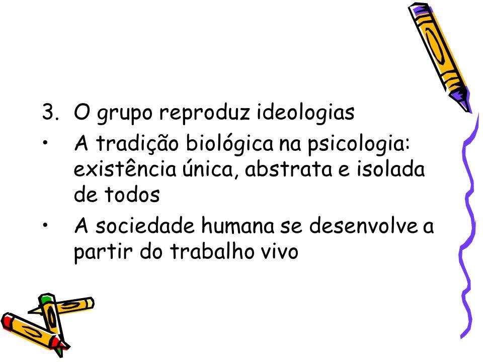 O grupo reproduz ideologias