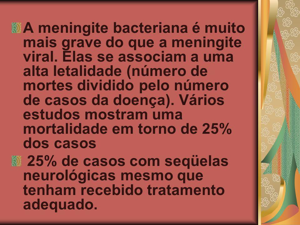 A meningite bacteriana é muito mais grave do que a meningite viral