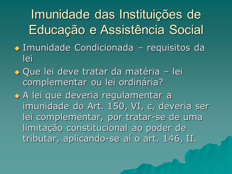 Imunidade das Instituições de Educação e Assistência Social